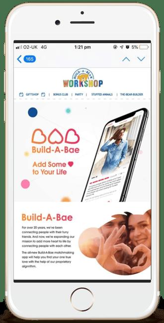 Build-a-Bear April Fools email