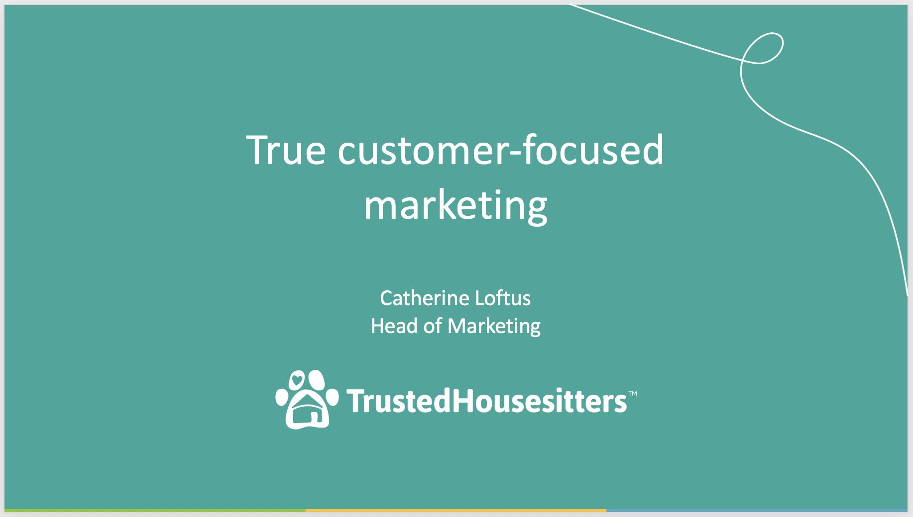 Catherine Loftus Trusted Housesitters presentation