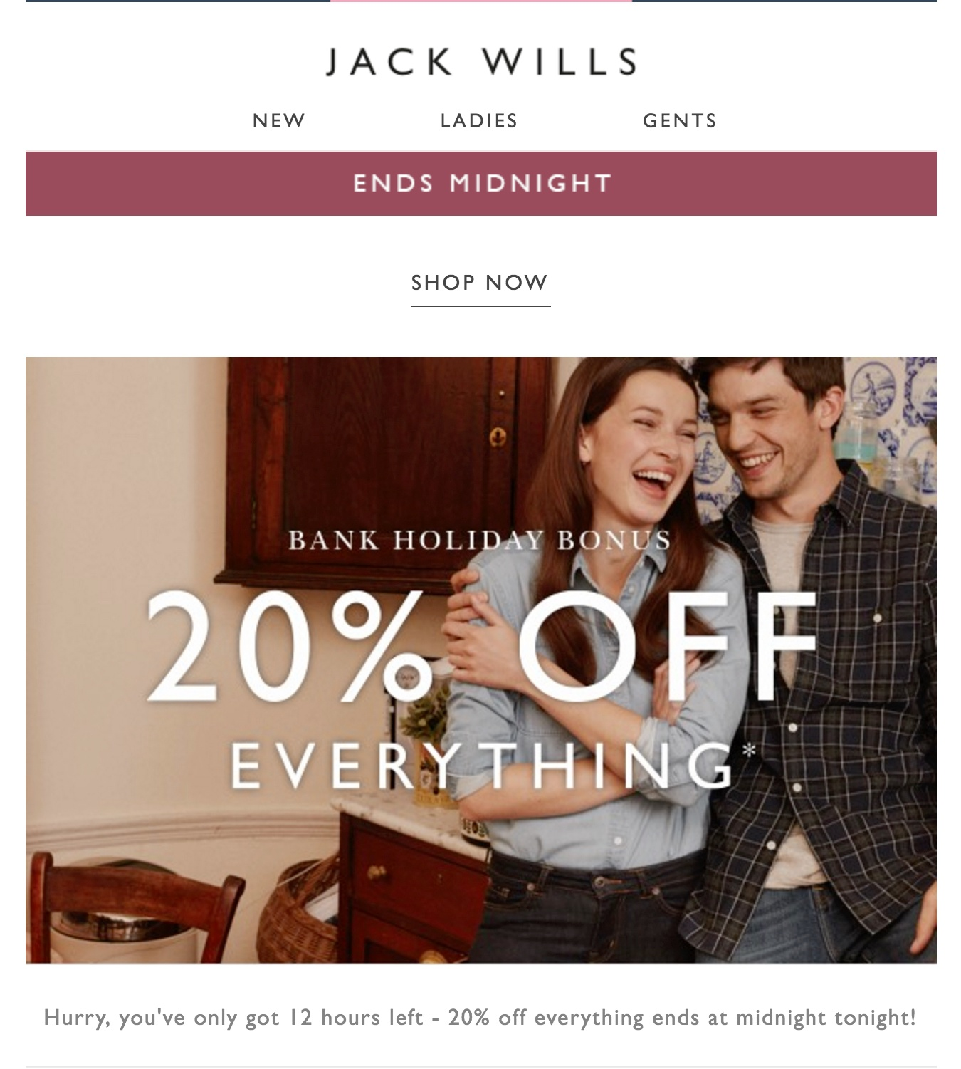 Jack Wills Offer Email