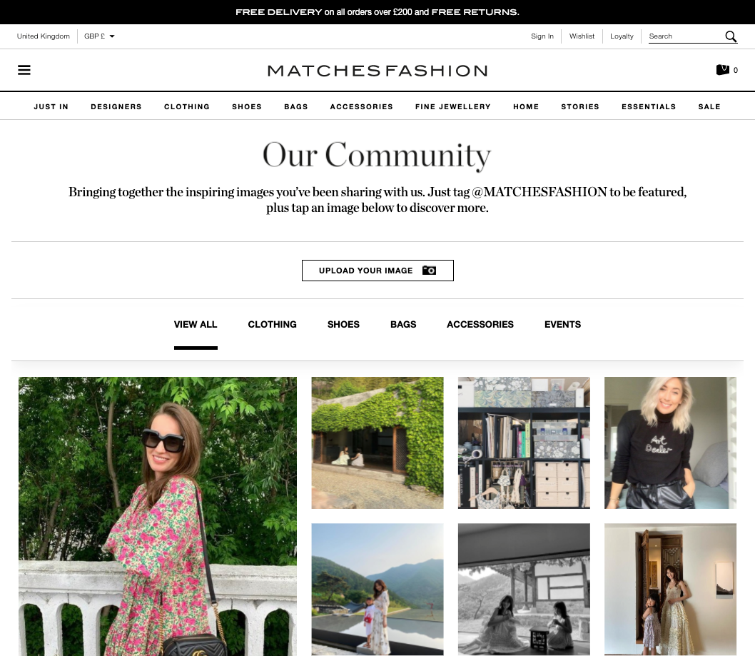 MATCHESFASHION.COM Community UGC