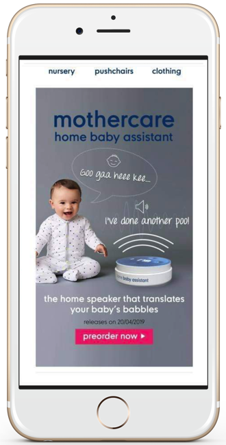 Mothercare April Fools email