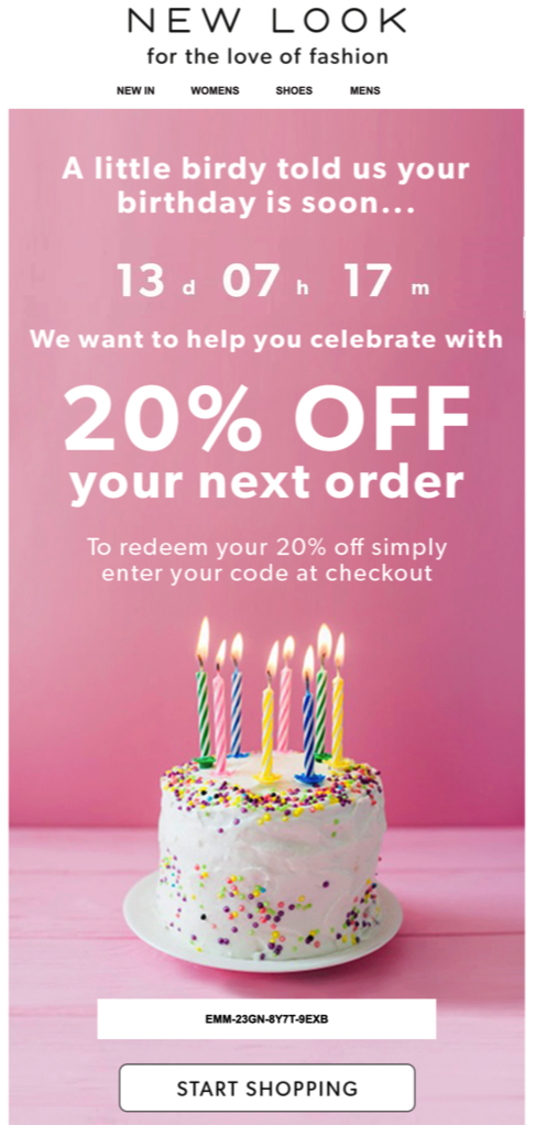 New-Look-Birthday-email