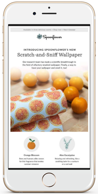 Spoonflower April Fools email